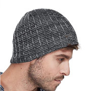 Men Winter Wool Knit Cap Warm Thick Windproof Vogue Vintage Outdoor Casual Snow Ski Cycling Beanie