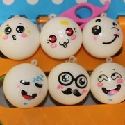 Cute Face Fragrant Bread Model Brinquedos Squishy Stress Reliever Cell Phone Chain