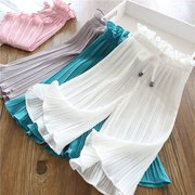 Girls Wide Leg Pants 19 New Children's Clothing Female Children Nine Points Mosquito Pants Small Girls Pants Casual Pants Big Children
