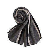 LYZA Wool Cashmere Scarf Winter Wool Scarves Long and Warm Business Stripe Scarf Shawl For Men