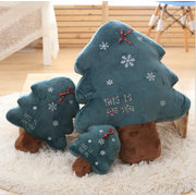 Cute Luminous Christmas Tree Pillow Light Up Plush Toys Soft Doll Glowing Christmas Gifts for Kids