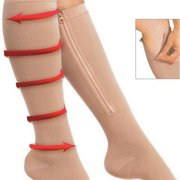 Durable Soothe Varices Veines Compression Chaussettes Stocking Sleep Leg Slimming