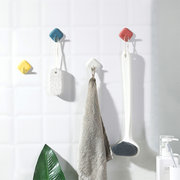 Hooked Nordic Style Simple Decorative Storage Dual-Use Hook Cute Nail-Free Paste Hook