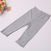 Wooden Ear Cropped Trousers Candy Color Stretch Leggings Shorts