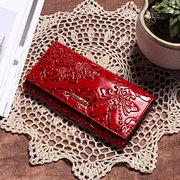 Урожай большой емкости Повседневный цветочный портмоне кошелек для женщин