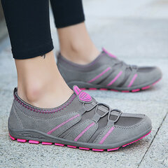 Comfortable Slip On Walking Slip Resistant Athletic Flat Shoes