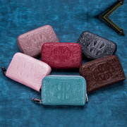 Genuine Leather Crocodile Pattern 12 Card Slot Wallet For Men And Women