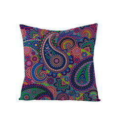 Bohemian Mandala Folk Geometrical Style Linen Throw Pillowcases Home Sofa Art Decor Cushion Cover