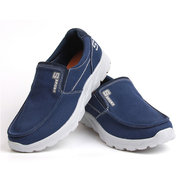 Large Size Men Canvas Comfy Soft Slip On Light Weight Walking Shoes