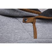 Casual para hombre Cómoda Costura Cremallera Transpirable Delgado Sudaderas con capucha calientes