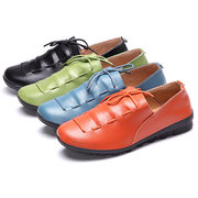 Stringate Soft Scarpe piatte in pelle color mocassino