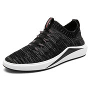 Men Breathable Flyknit Mesh Fabric Shock Absorption Trainers Casual Sneakers