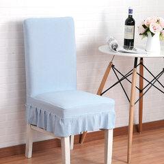 Housse de chaise en tissu tricoté couleur pure Housse de siège élastique extensible
