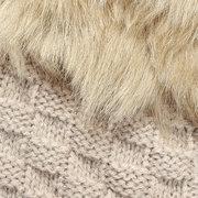 Женские Зимние Теплые Митенки Трикотажные Тушеные Перчатки Без Пальцев