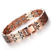 Fashion Trendy Men Bracelet Copper Magnetic Bracelet Stainless Steel Bracelet