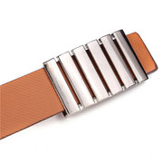 Men Women PU Leather Waistband Smooth Buckle Wide Belts