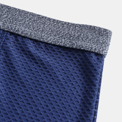 Mens Sexy Ice Silk Mesh Knit Underwear See Through Breathable Cool Seamless Boxer Briefs