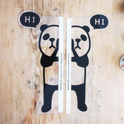 Panda Sticker Computer Display Screen Post Memo Wall Sticker Bookmark Notes Message Board