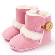 Fleece Thick Winter Baby Boots Soft Flats First Walker For 0-2 Years