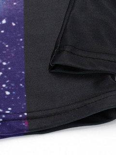 Frauen-reizvoller sternenklarem Himmel 3D druckte Gamaschen elastische ausgedehnte Sport-Hosen Shapewear