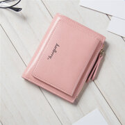 Women Stylish Candy Color Small Wallet Card Holder Purse