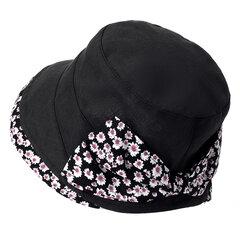 Mujer Summer Cotton Bow Protector solar ajustable Sombrero al aire libre Viajes ocasionales Sombrero