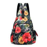 Sac à dos imprimé multifonctionnel en nylon imperméable sac bandoulière de voyage pour femme