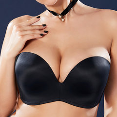 PLus Size Bandeau Gather Thin Push Up Seamless Multi-Ways Wearing Bras G Cup