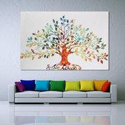 Alberi frondosi Paesaggio Pittura di paesaggio Senza cornice Tela Wall Art Living Room Home Decor