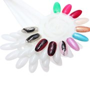 10 Pcs Flower Shape Nail Color DIY 120 Dicas Display Small Large Size