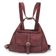 Women Multi-functional PU Leather Backpack Casual Travel Bag
