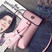 Women Tassel Mini Crossbody Bags PU Leather Phone Bags