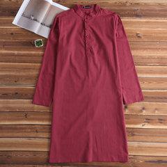 قميص رجالي كورتا القطن النسيج الهندي العرقية اللباس تونك كورتا بيجامة تي شيرت بلايز