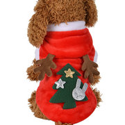 Christmas Elk Pet Dog Festival Costume Rouge Noël Hoody Vêtements