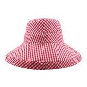 Mujer Cubo de protección solar fino de algodón plegable Sombrero al aire libre Viajes ocasionales Playa Mar Sombrero