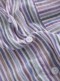 عارضة Colorful مقلم الخامس عنق بوتون أسفل قميص