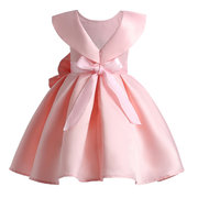Toddler Pageant Dresses Big Bow Bridesmaid Wedding Dress For Girls 3Y-15Y