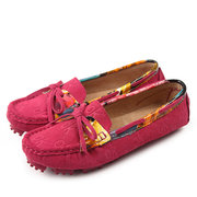 Leather Bowknot Colorful Slip On Soft Scarpe piatte
