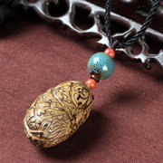 Ethnic Handmade Bodhi Necklace Long-Style Stone Sweater Necklace For Women Men