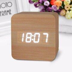 Relógio eletrônico Honana DX-CO300 Relógio analógico à prova d'água criativo Despertador digital de madeira