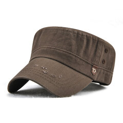 Mens Vintage Cotton Solid Color Flat Cap Outdoor Sport Summer Breathable Forward Caps