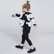 Cute Bear Pattern Girls Sweater Clothes Kids Thick Tops Outerwear Clothes