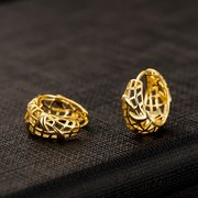 Fashion Dangle Earrings Gold Hollow Container Geometric Ear Drop Earrings Jewelry for Women