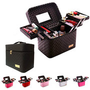 Multi-layer Cosmetic Bag 3/4 Layer Drawers Foldable Tray Makeup Organizer Case Storage Box