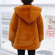 Cappotti invernali da bambina con cappuccio in felpa con cappuccio, per 3Y-15Y