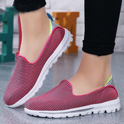 Mesh Slip On Color Match Comfortable Casual Shoes