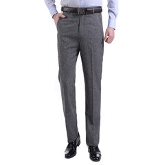Pantalon de costume en lin pour hommes Printemps Eté Affaires Soft Pantalon long en lin