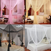 190x210x240cm Four-door Bedding Mosquito Net Queen Bed Anti-mosquito Summer Polyester Mesh Fabric