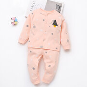 2Pcs Comfy Soft Cotton Baby Clothing Set For 0-24M