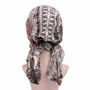Mujer Imprimiendo un buen algodón elástico Sombrero vendimia Turban Gardening Beanie Cap